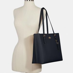 Coach Mollie Tote Midnight Navy Blue Tote Bag NWT